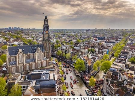 Amszterdam éjszaka lövés western templom Hollandia Stock fotó © dirkr