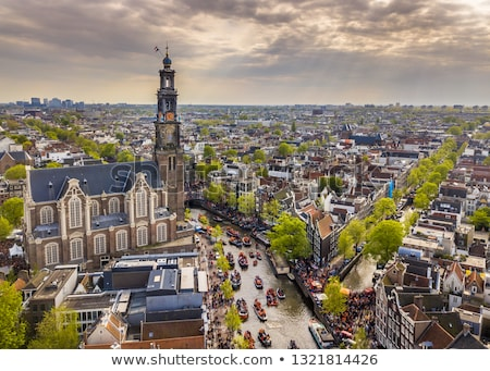 Amsterdam noche tiro occidental iglesia Países Bajos Foto stock © dirkr
