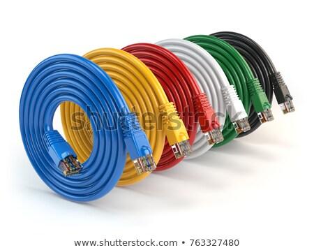 Jaune ethernet câble internet communication personne Photo stock © IS2