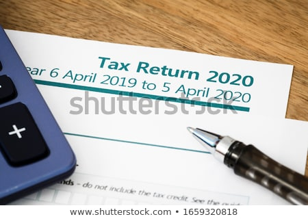 Imposto voltar forma caneta secretária papel Foto stock © Zerbor
