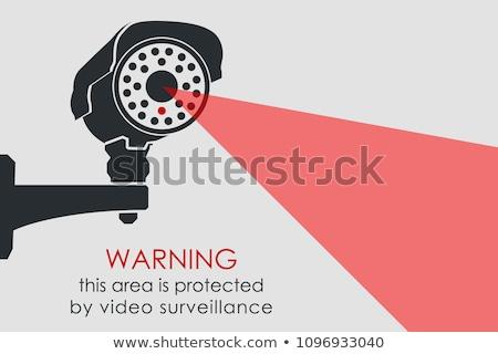 セキュリティ を見て サーベイランス カメラ サービス ワーカー ストックフォト © jossdiim