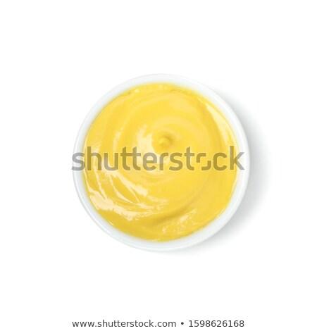Stock fotó: Mustár · fehér · étel · háttér · fűszer