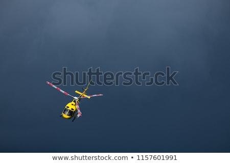 tıbbi · helikopter · uçan · gökyüzü · vektör · karikatür - stok fotoğraf © pcanzo