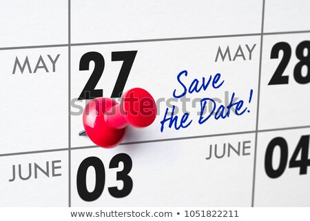 Wall calendar with a red pin - May 27 Stock photo © Zerbor
