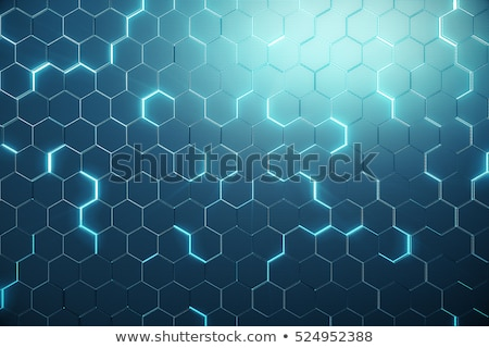 Abstract kleur zeshoek wireframe oppervlak technologie Stockfoto © anadmist