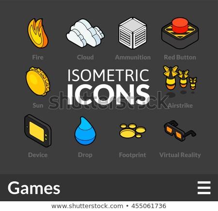 Isometrische icon geïsoleerd kleur vector symbool Stockfoto © sidmay