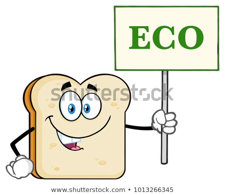 Blanco pan mascota de la historieta carácter Foto stock © hittoon