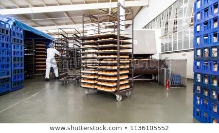 ストックフォト: パン · 工場 · 業界 · 工場 · ホット · 新鮮な