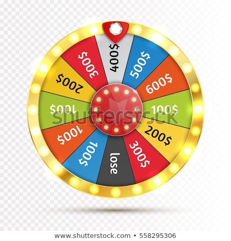 fortune wheel vector 3d object win fortune roulette colorful wheel isolated on white illustratio stock photo © pikepicture