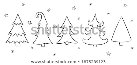 A set of contours of the fantasy of snowflakes isolated on a white background. Vector illustration. Stock photo © Lady-Luck