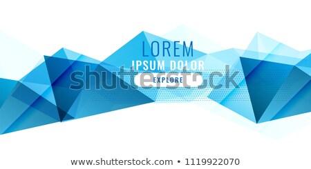Abstrato azul baixo triângulo bandeira projeto Foto stock © SArts