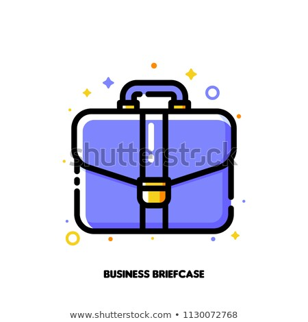 Icon of briefcase for business portfolio concept. Flat filled outline Stock photo © ussr