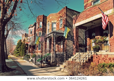 Chicago · outono · panorama · cidade · pôr · do · sol · viajar - foto stock © benkrut