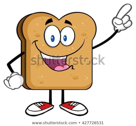 Felice toast punta isolato Foto d'archivio © hittoon