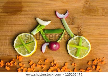 healthy lifestyle concept with yellow tomato stok fotoğraf © tasipas