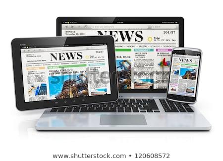 news on white background. Isolated 3D illustration Stock photo © ISerg