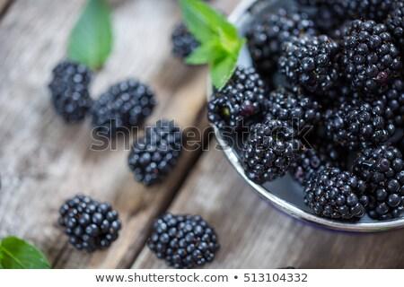 BlackBerry menta hojas tiro Foto stock © dash