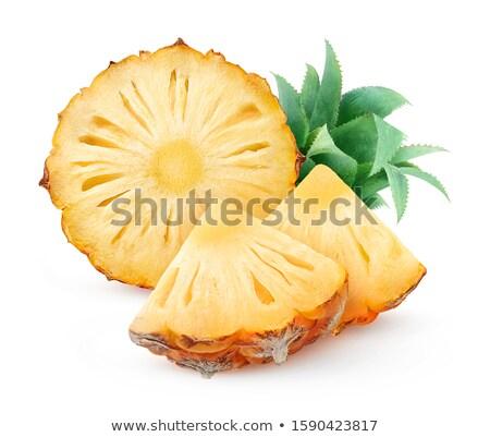 Halves of unpeeled pineapples Stock photo © dash