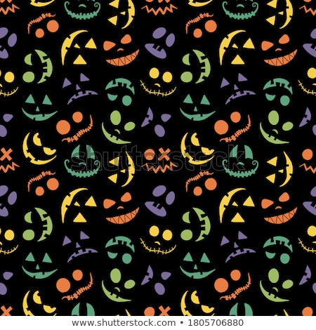 Halloween pumpkin face - crazy smile Jack o lantern Stock photo © MarySan