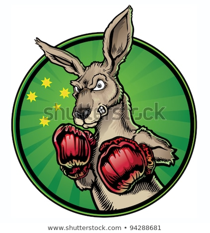 Arrabbiato cartoon canguro illustrazione guardando Foto d'archivio © cthoman