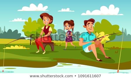 Mensen vis samen mannen hobby vissen Stockfoto © robuart