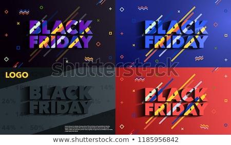 modern memphis style black friday sale banner design Stock photo © SArts