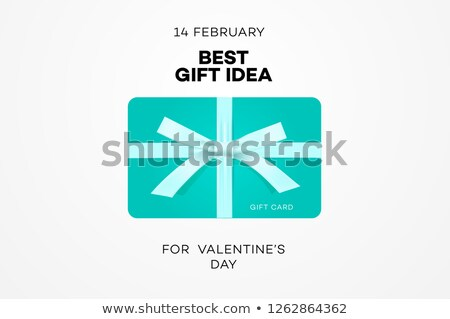 Best gift idea web banner for Valentines day, gift certificate, online shopping, vector illustration Stock photo © ikopylov