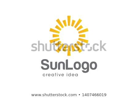 Amarelo estrela ícone sol logotipo elemento Foto stock © blaskorizov