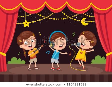 ストックフォト: 少年 · ドラマ · を見る · ステージ · 実例 · 芸術
