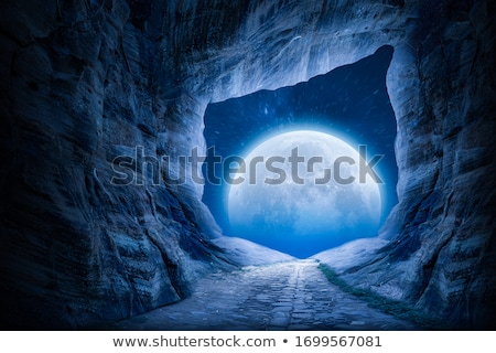 Night view from the cave Stock photo © bluering