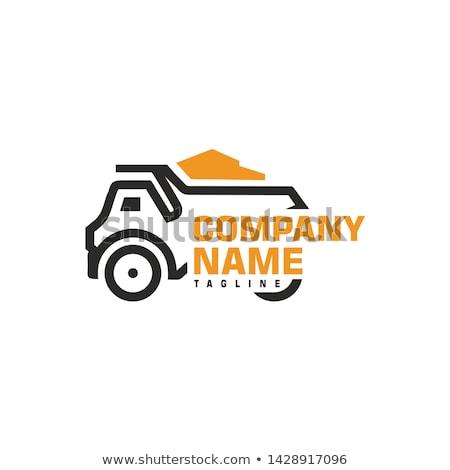 желтый грузовика иллюстрация автомобилей строительство оранжевый Сток-фото © IvanDubovik