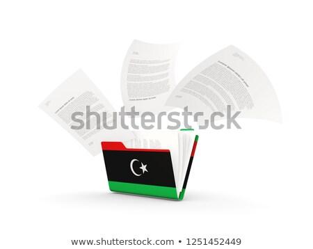 Klasör bayrak Libya Dosyaları yalıtılmış beyaz Stok fotoğraf © MikhailMishchenko