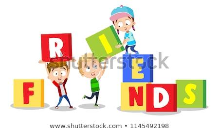 Cubo crianças jogo quebra-cabeça Foto stock © Olena