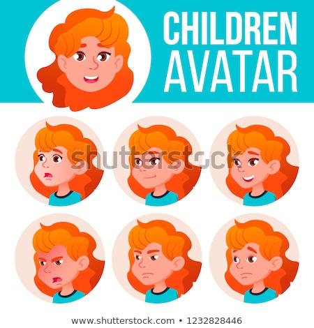Ragazza avatar set kid vettore Foto d'archivio © pikepicture