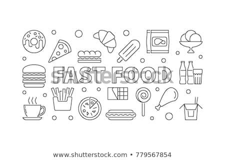 beber · ícones · vetor · soda · fast-food · café - foto stock © anna_leni