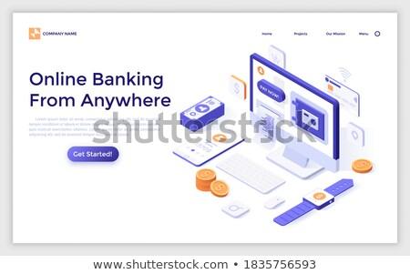 Smartwatch payment concept landing page. Stock photo © RAStudio