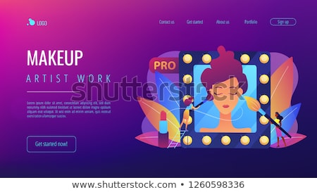 Professionele make app interface sjabloon Stockfoto © RAStudio
