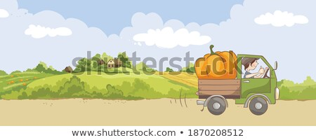 car lorry and people on land vector illustration stock photo © robuart