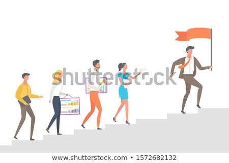 lider · iş · adamı · grup · arkadaşları · iş · yol - stok fotoğraf © robuart