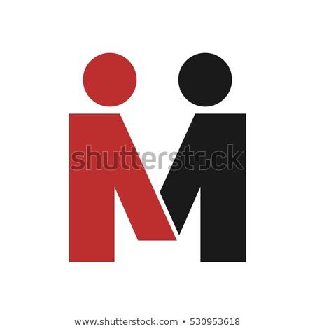 パートナーシップ 人 手紙m ロゴ ロゴタイプ ベクトル ストックフォト © blaskorizov