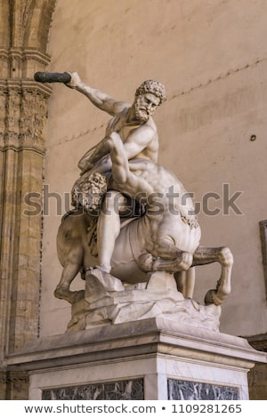 Statue Hercules and Nessus in Loggia dei Lanzi in Florence Stock photo © boggy