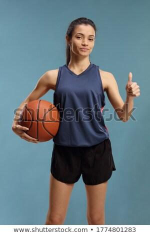 женщину · Постоянный · баскетбол · черный · моде · модель - Сток-фото © dolgachov