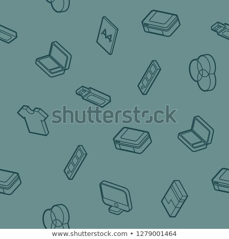 Polygraphy outline isometric pattern Stock photo © netkov1