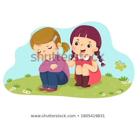 Lány park gyönyörű lány nő arc szépség Stock fotó © your_lucky_photo