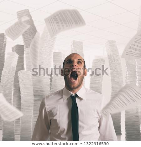 отчаянный · кризис · бизнесмен · исчерпанный · бизнеса · спальный - Сток-фото © alphaspirit