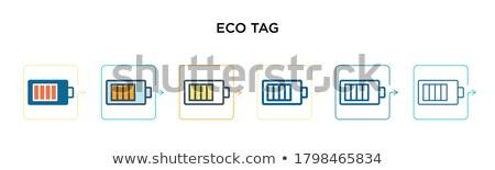 eco · recyclage · vert · isolé - photo stock © darkves
