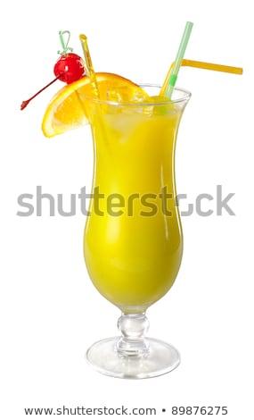 pina colada yellow alcohol cocktail with pineapple lemon cold stock photo © dashapetrenko