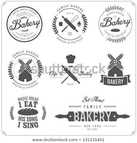 Vintage хлебобулочные дизайн шаблона прибыль на акцию 10 дизайна Сток-фото © netkov1