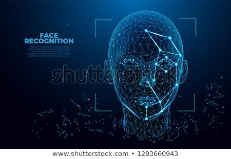 Cara reconocimiento ordenador hombre seguridad Foto stock © ra2studio