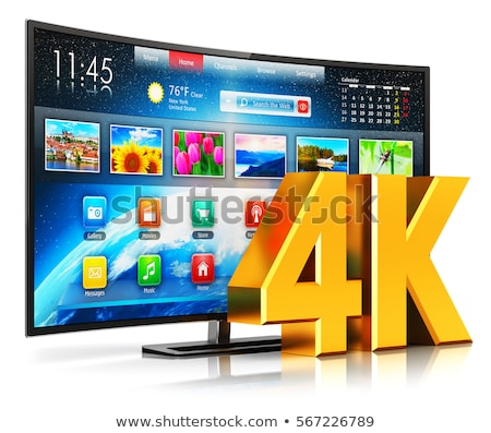 UltraHD Smart Tv with Curved Screen on White Stock photo © manaemedia